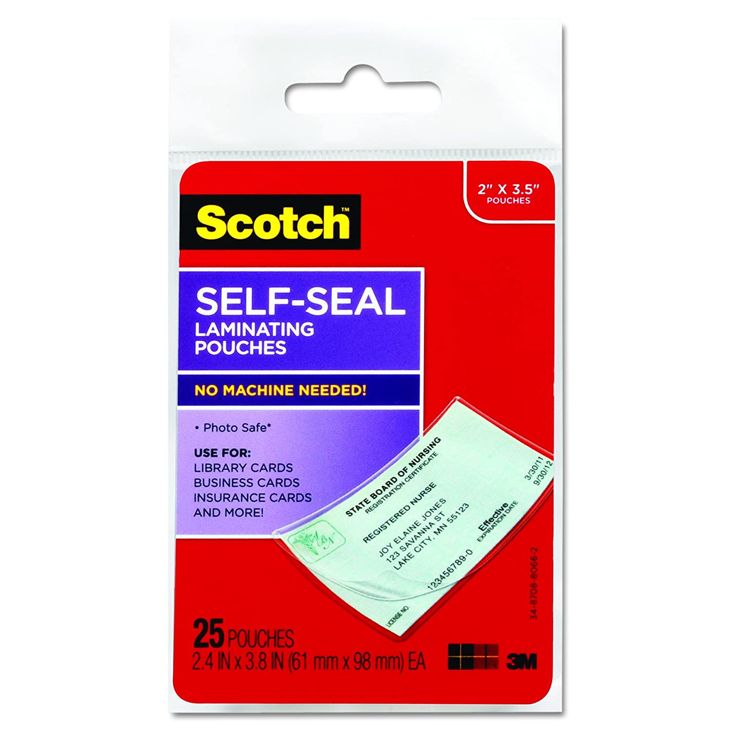 scotch ls851g self sealing laminating pouches 9 5