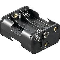 Support de piles, 6x Mignon '' AA avec connecteurs à pression Lot de 3