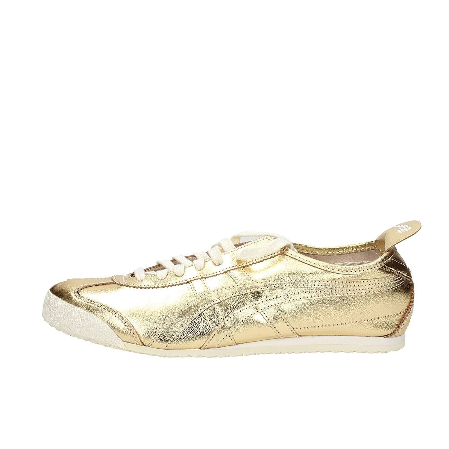brand new edb1a 94f01 Onitsuka Tiger Mexico 66 Gold Gold Off White 39.5: Amazon.co ...