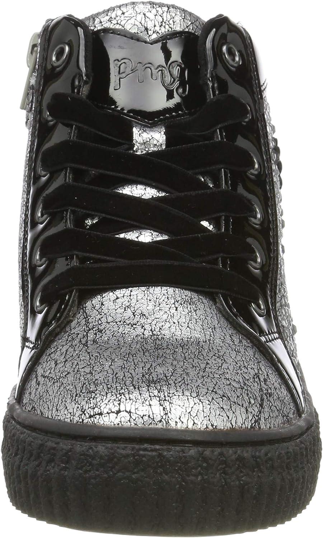 Primigi Paa 44544, Sneaker a Collo Alto Bambina Argento Argento Nero 4454422