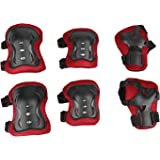 Physport 6 pcs Child Protective Gear Set Cycling Knee Pads and Elbow Pads with Wrist Guards