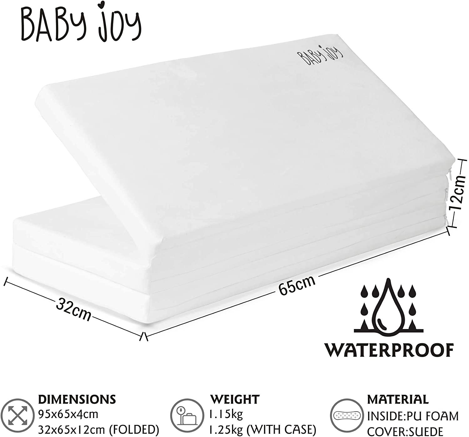 Red Kite /& Graco Travel Cots 95x65cm Baby Joy 100/% Waterproof Luxury Portable Folding Foam Child Travel Mattress Includes Carry Case and 2x Waterproof Fitted Sheets Perfect Fit For Medium Baby Joy