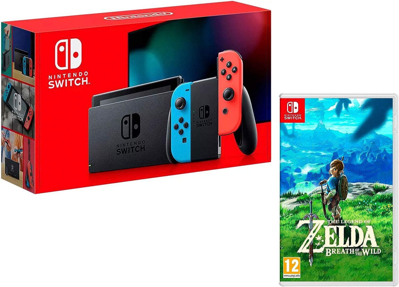 Nintendo Switch 32Gb azul/rojo neón + The Legend of Zelda: Breath ...
