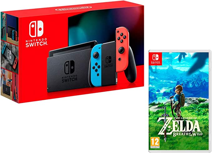 Tablets N azul Rouge/Bleu Néon Zelda: Breath Of The Wild: Amazon ...