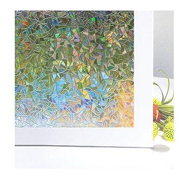Aojia Fensterfolie Sichtschutzfolie Selbstklebend 3d Dekorfolie