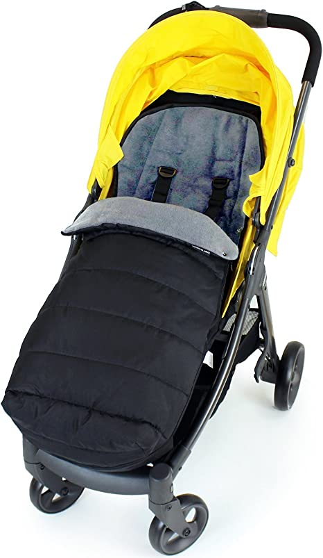 Black Black XXL Large Luxury Foot-muff And Liner For Mamas And Papas Armadillo