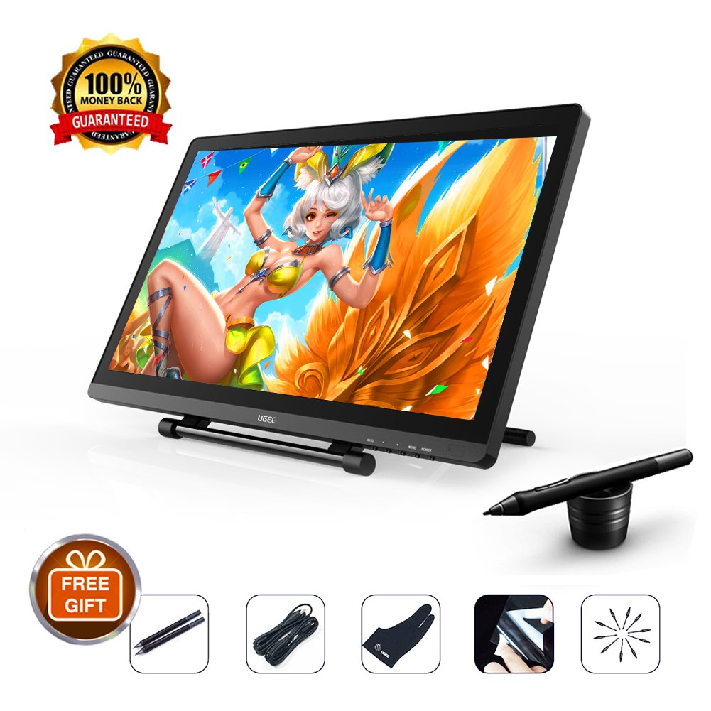 Ugee 2150 Pen display Graphics Tablets with 2048 Pressure Sensitivity 21 5  Inch IPS 1080P for Mac and PC