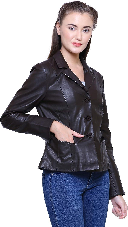 New Women Motorcycle Lambskin Leather Jacket Coat Size XS S M L XL LFWN569