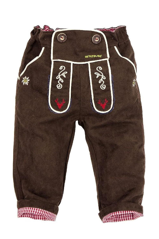 Bondi Kinder Trachten Hose Herzbube, braun K000032