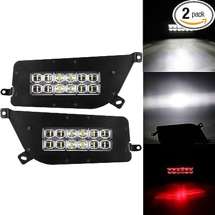 Amazon.com: Partol Headlight Driving Light for 2014 2015 2016 Polaris RZR 900 1000 XP Turbo - 90W Hi-Lo Beam LED Atmosphere Lamps: Automotive