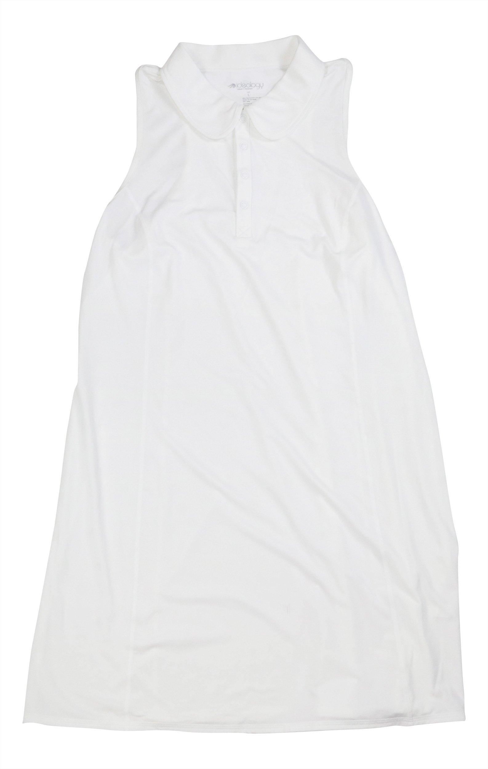 Ideology Women's Polo Tennis Dress (Bright White, Large)