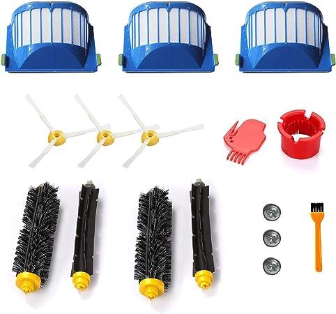 h Life Kit de Accesorios para iRobot Roomba 600 690 650 620 aspiradoras Incluyen 3 Aero Vac Filter, 2 Set Flexible Beater & Bristle Brush y 3 Side Brush: Amazon.es: Hogar