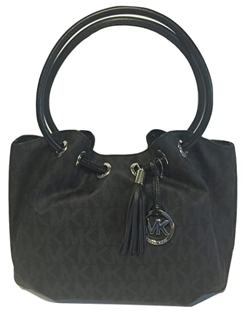 753a6eb8ba switzerland michael kors jet set chain mk signature embossed black patent  3a857 88c5c  uk michael kors md ew ring tote signature mk black pvc 64e65  194e2