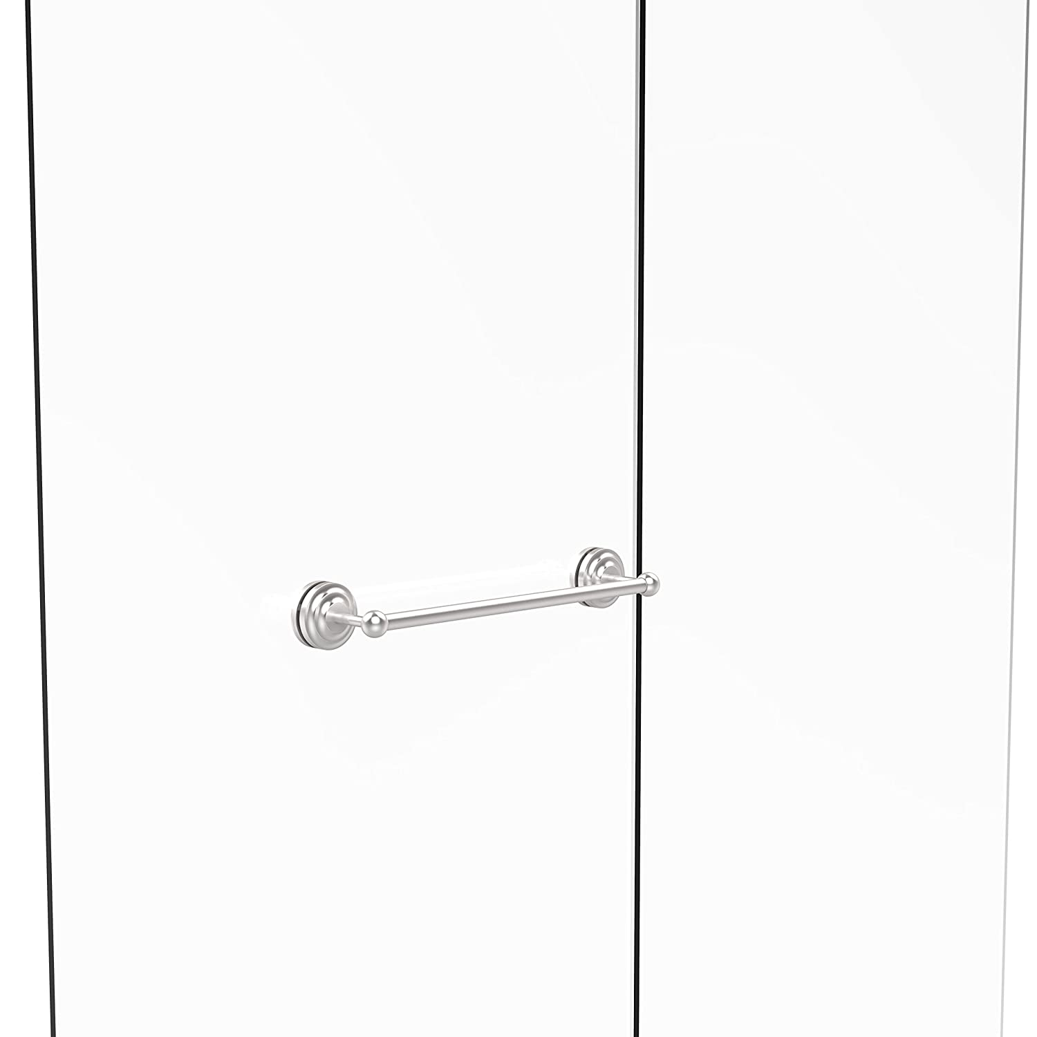 Allied Brass QN-41-SM-18-SCH Que New Collection 18 Inch Shower Door Towel Bar Satin Chrome