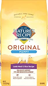 Nature's Recipe Puppy Dry Dog Food, Lamb Meal & Rice Recipe