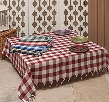 Tablecloth Green Linen Plaid Cotton Picnic Throw Blanket Table Cover  Gingham Buffalo Checkered Gingham Buffalo 55x55