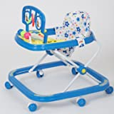 Dash Deluxe Musical Baby Walker with Light, Rattles, Play Tray and Hanging Toys (Blue)