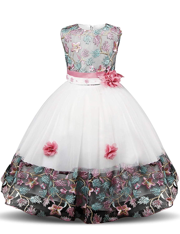 118db4960 Niña NNJXD niñ as Princesa Flor Vestido de Fiesta de cumpleañ os de ...