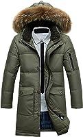 Spikerking Men&39s down jacket Hooded long Coat at Amazon Men&39s