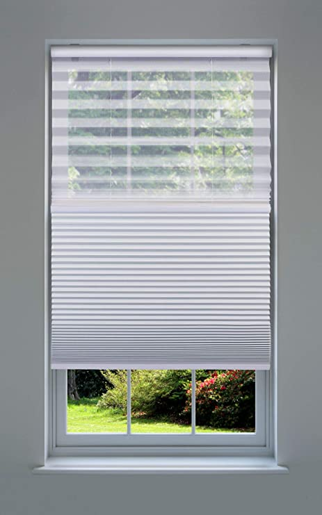 Decor Avenue Custom Cordless 24 1 2 W X 54 To 60 H Platinum Light Filtering Cellular Shade Inside Mount Window Treatments Honeycomb Shades