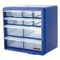 Blue 12 Draw Multi Tools Organiser Box