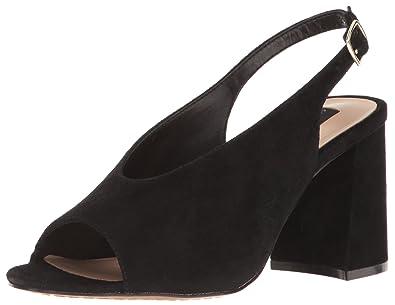 b2036d866cb STEVEN by Steve Madden Women s Futures Platform Dress Sandal Black Suede 6  ...