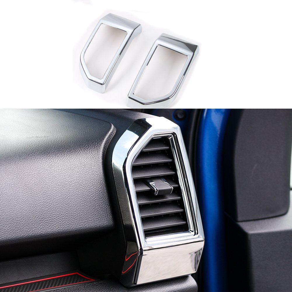 Chrome ABS Left & Right Air Vent Cover Trim For Ford F150 2015-2017 (Chrome Air Vent Cover)
