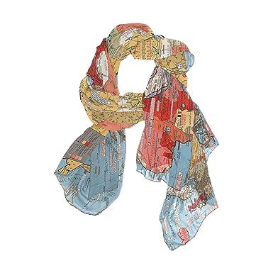 Shawl wrap sheer scarvesfashion colorful world mapoblong chiffon shawl wrap sheer scarvesfashion colorful world mapoblong chiffon scarf gumiabroncs Images