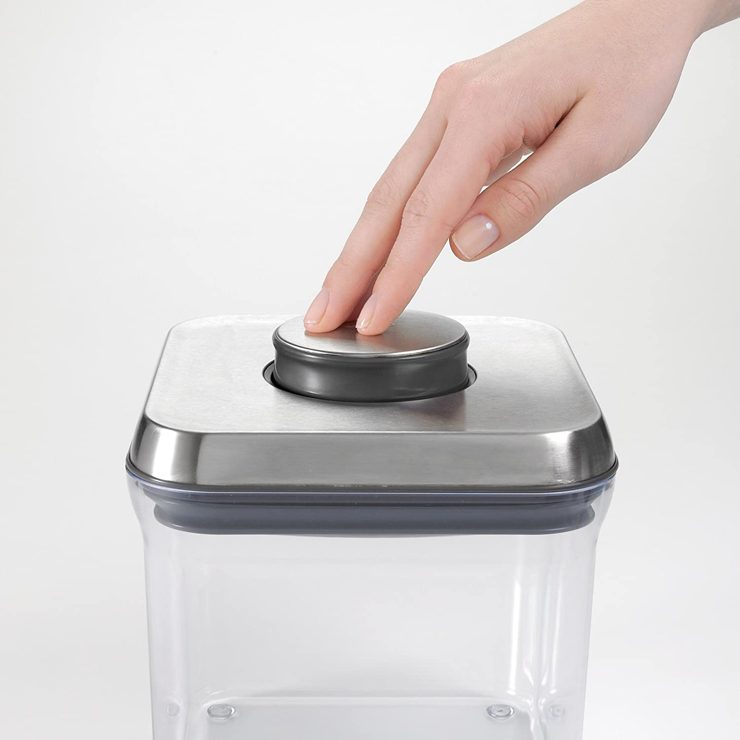 Amazon.com: OXO SteeL Airtight Food Storage POP Container   Rectangle (2.5  Qt): Food Savers: Kitchen U0026 Dining