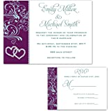 amazon com 100 wedding invitations blush pink gold floral design