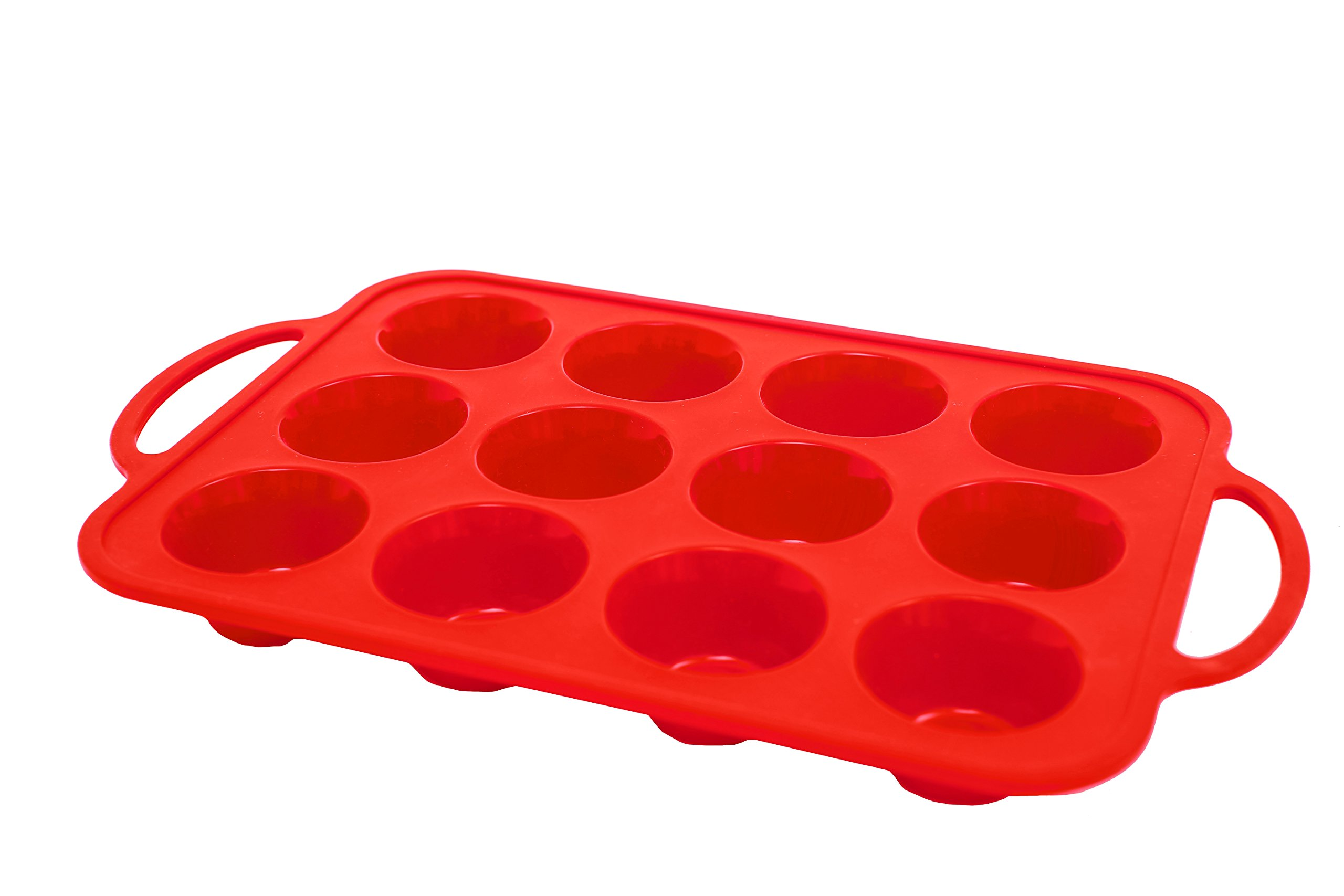 Metal Frame Premium Silicone Muffin Pan / Tin Cupcake Mold by Daisy's Dream - 12-Cup Silicone Pan / Baking Tray - Easy To Use - Simple To Clean