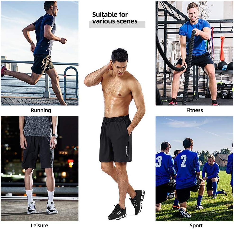 BENNALD Short Deportivo Hombre Pantalones Cortos Deporte Hombre Pantal/ón Corto Deportivo Secado R/ápido Shorts Core Pants de Tenis Running Fitness Gimnasio Gym Atletismo Verano Negro