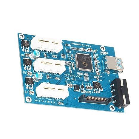 MagiDeal Placa Base con Tarjeta PCI Cable USB Accesorios Ordenador Portátil Cámara Teléfono Móvil Computadora Informática