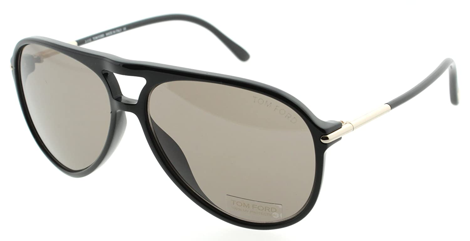 72706a6204d2c Tom Ford 0254 01M Black Matteo Aviator Sunglasses Lens Category 2   Amazon.co.uk  Clothing