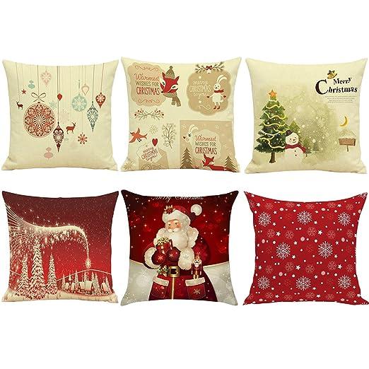 papasgix Merry - Fundas de Almohada de Navidad de 45,7 x 45 ...