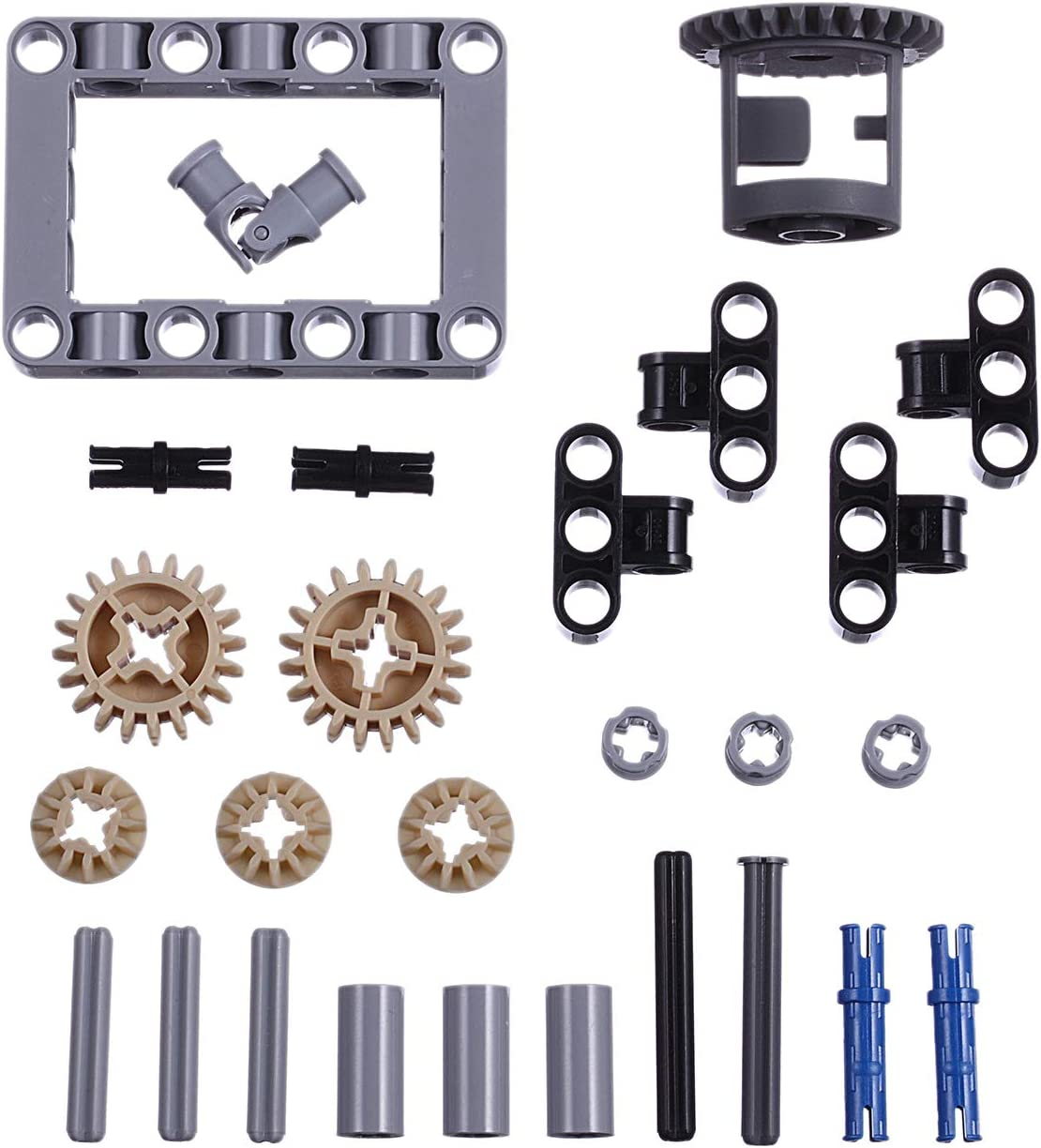 Gears, pins, axles, connectors LOONGON Technic Differential Gear Box kit 27 Pieces