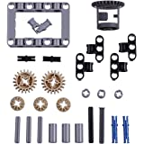 LOONGON Technic Differential Gear Box kit (Gears, pins, axles, connectors) 27 Pieces