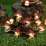 Onemore Mushroom LED String Lights, 10FT 30LEDs Christmas Decorations Battery Powered Princess String Lights for Girls Bedroo