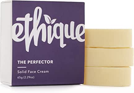 Ethique Eco-Friendly Solid Face Cream for Dry Skin, The Perfector - Sustainable Natural Face Moisturiser, Night or Day Cream, Plastic Free, Vegan, Plant Based, 100% Compostable and Zero Waste, 2.29oz