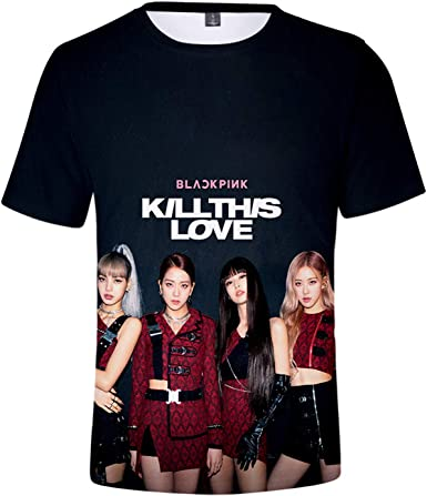 DHSPKN Blackpink in Your Area 3D T-Shirt Lisa Jisoo Jennie Rose Versions Tee