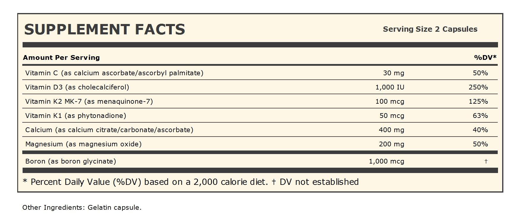 Ultimate Calcium-Magnesium Intensive Care with Vitamins D3 & K2 MK-7 100