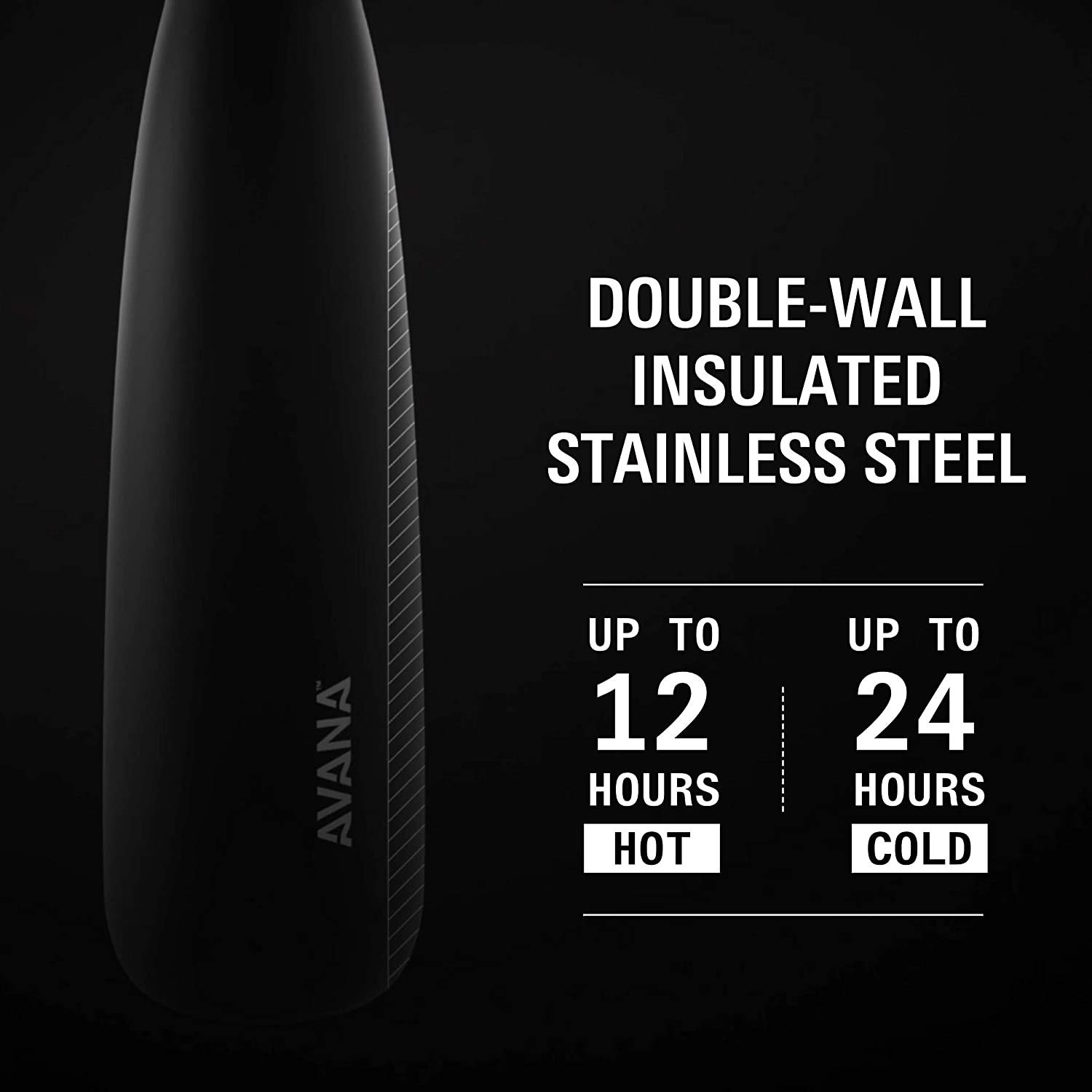 24-Ounce Lilac Avana Ashbury Stainless Steel Double-Wall Insulated Water Bottle