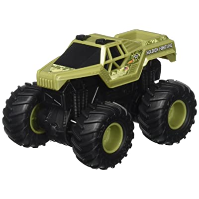 Hot Wheels Monster Jam Rev Tredz Soldier Fortune Vehicle: Toys & Games