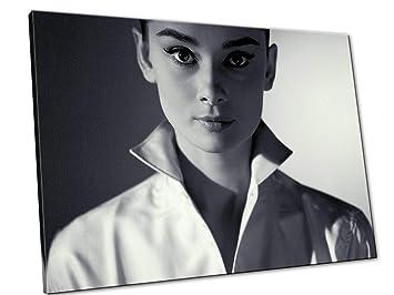 Bilder, Poster, Kunstdrucke & Skulpturen 120x85 cm Möbel & Wohnaccessoires Audrey Hepburn Schwarz Und Weiß Bild Druck Auf Leinwand Für Den Innenausbau Ad18