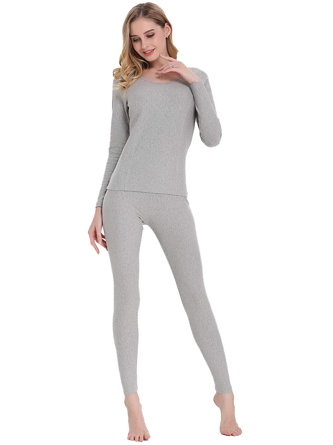 Amorbella Women's Thermal Underwear Base Layer Long Johns Set with Fleece Lined for Winter