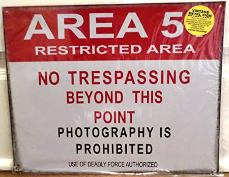 Area 51 Tin Sign 15 x 12 en: Amazon.es: Hogar