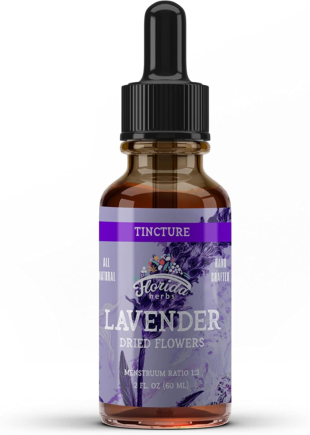Lavender Tincture, Organic Lavender Extract Lavandula X Intermedia Dried Flow