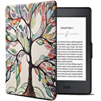 Funda para Kindle Paperwhite, Cubierta de Cuero de la PU para Kindle Paperwhite (Arbol)