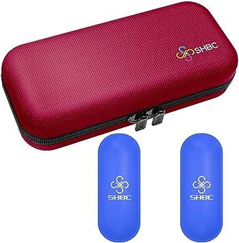 Estuche de viaje para diabético insulina enfriador refrigeración organizar medicamento aislado bolsa con 2 bolsas de hielo rosa: Amazon.es: Salud y cuidado personal