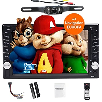 Coche Automotive CD 2 Din en Dash Autoradio GPS SATA Cabezal Pantalla Capacitiva Coche Video Bluetooth